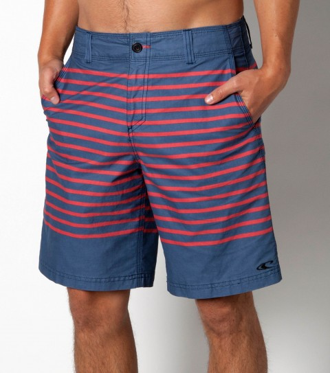 Surf O'Neill Skipper Hybrid Shorts. Vintage Suede 19'' outseam hybrid boardshort/walkshort features engineered print; button fly; internal drawcord; front hand pockets; back welt pocket; embroidered and woven label logos. - $19.99