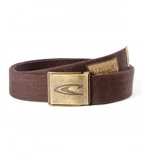 Surf O'Neill Spaced Belt.100% cotton webbing belt with woven label; debossed logo tipping and custom molded buckle with bottle opener. - $10.99