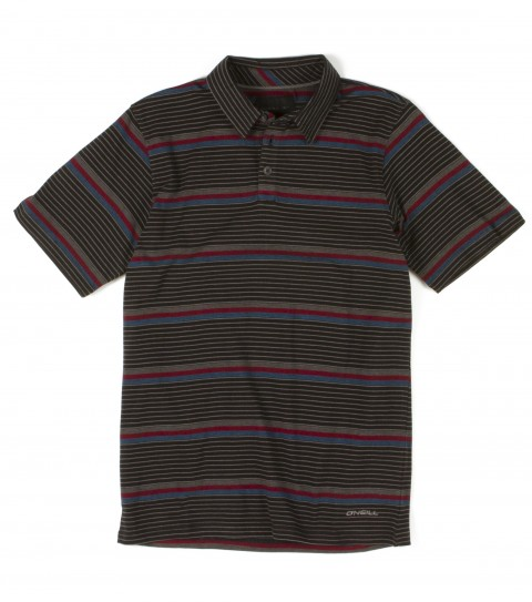 Surf O'Neill boys polo with 100% cotton 180gsm jersey heather y/d stripe polo with heavy enzyme/silicone softener wash. Standard fit; with logo embroideries and labels. - $24.99