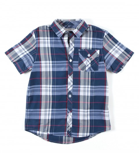 Surf O'Neill short sleeve shirt 55% cotton/45% polyester y/d plaid s/s shirt with mill finish and bio wash. Standard fit; with logo embroideries and labels. - $27.99