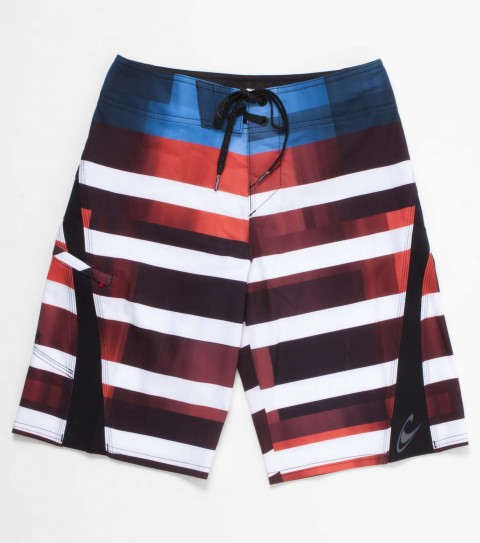 Surf O'Neill boys superfreak boardshorts with psycho stretch 19'' outseam features engineered print boardshort with superfly 2.0 closure; welt zip pocket; embroidered and screened logos. - $44.99