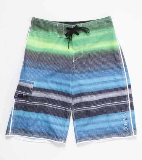 Surf O'Neill boys boardshorts epic stretch 19'' outseam features engineered printed boardshort with superfly 2.0 closure; side cargo pocket and embroidered logos. - $35.99