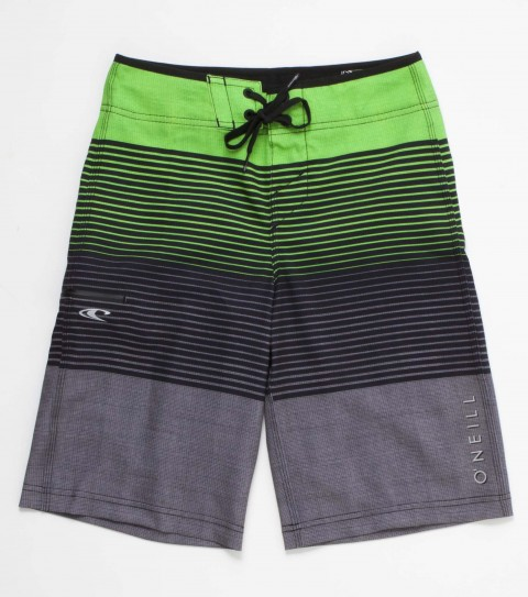 Surf O'Neill Boys John John Florence Signature Boardshorts.  Epicstretch; engineered print boardshort with superfly 2.0 closure; locking drawcord; stitched pocket with zipper and screened logos. - $35.99