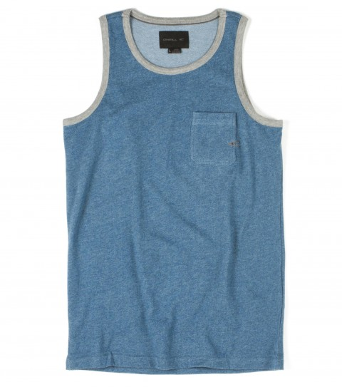 Surf O'Neill boys tank 100% cotton 180gsm micro looped-back jersey heather tank with heavy enzyme/silicone softener wash. Standard fit; Kings of Freak logo embroideries and labels. - $20.99