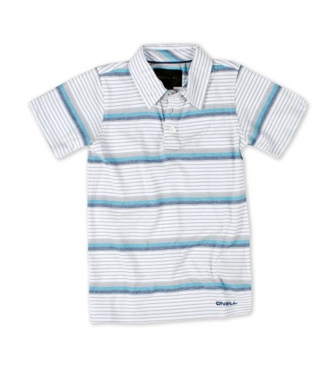 Surf The O'Neill  kids York Polo shirt is made of 100% cotton with heavy enzyme/silicone softener wash. Standard fit; with logo embroideries and labels. - $29.50