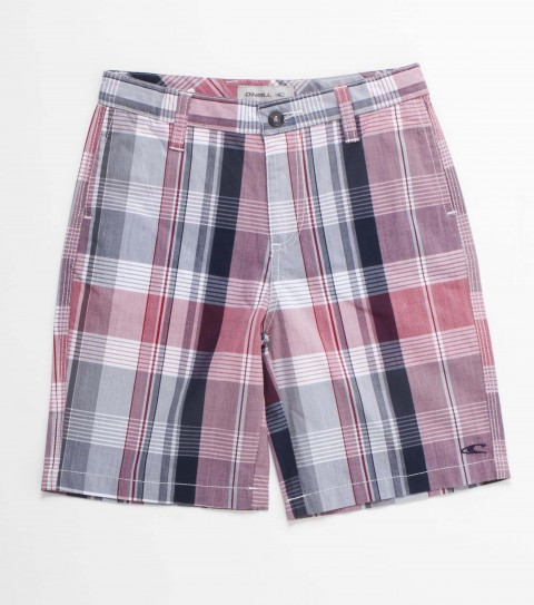 Surf The O'Neill kids Vortex shorts are made of 100% cotton y/d plaid with heavy enzyme/silicone softener wash. Standard fit; decorative back pockets; logo embroideries and labels. - $42.00