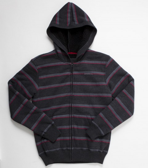 Surf The kids O'Neill Brawl hoodie is made with heathered superfleece bonded to sherpa ; custom zipper; metal hardware details and woven label. - $54.00