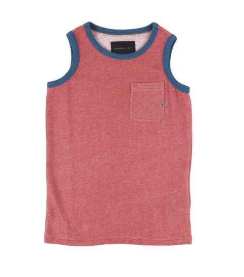 Surf O'Neill Kids Possession tank top. 100% cotton micro looped-back heather tank with heavy enzyme/silicone softener wash. Standard fit; Kings of Freak logo embroideries and labels. - $26.00