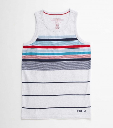 Surf The O'Neill Kids Holy Diver tank is made of 100% cotton jersey engineered stripe knit tank with heavy enzyme/silicone softener wash. Standard fit; with logo embroideries and labels. - $26.00