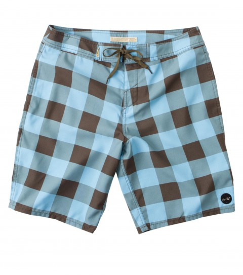 Surf Jack O'Neill Coaster Boardshorts: microfiber printed check boardshorts. Rigid fit; 20'' outseam; Jack O'Neill labels and embroideries. - $39.99