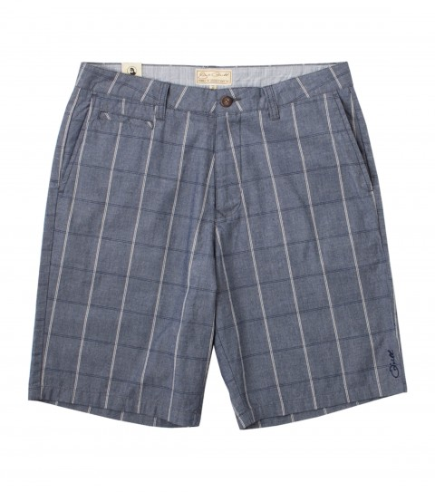 Surf Jack O'Neill Zuma Shorts: 100%cotton end-on-end slub plaid walkshorts. Standard fit; contrast interior waistband; Jack O'Neill labels and embroideries. - $50.99
