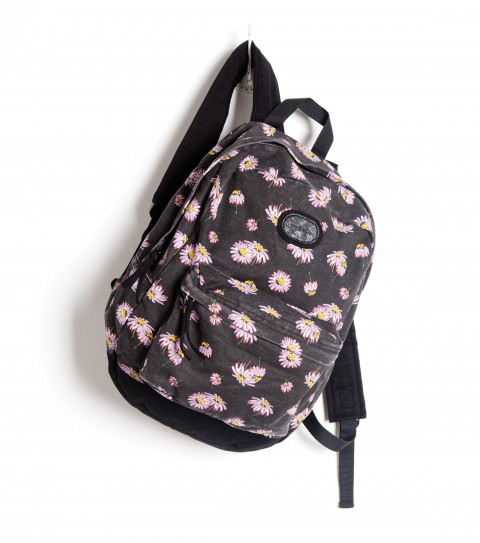 Camp and Hike The O'Neill Calder Backpack: printed cotton canvas backpack with heavy enzyme wash; and faux leather logo patch.  Dimensions:  16 1/2''H x 12 1/4''W x 5''D - $32.99