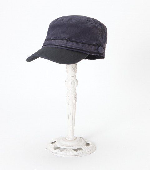 Surf The O'Neill Union over dyed cotton herringbone military cap has self tab and covered button detail; and metal logo badge. - $23.99