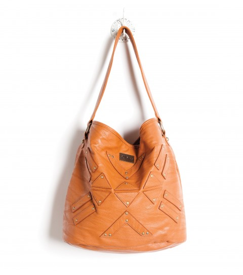 Entertainment The O'Neill Trailblazer Purse is a faux leather bucket bag with self patch detail; metal hardware; and metal logo plate.  11.5''H x 14''W x 7.5''D - $27.99
