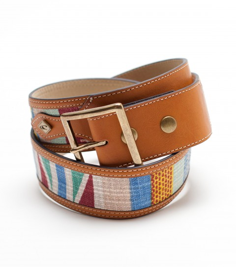 Surf O'Neill Quest Belt. faux leather belt with yarn dyed fabric inset; and metal hardware trim - $17.99