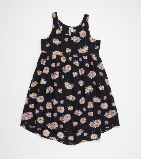 Entertainment O'Neill Andi Dress with a wildflower print for the wild child in you.  Tank style; loose fitting; slight drop at back hemline; metal logo badge. - $21.99