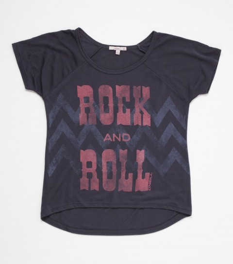Surf Take the stage with this O'Neill Rock and Roll Cheverton Tee. 65% polyester 35% rayon; girls slider tee. - $14.99