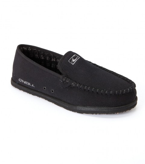 Surf O'Neill Mens Surf Turkey Low Shoes.  Mid top surf boots with cotton canvas and chambray upper; padded tricot sock lining footbed with arch cookie; sherpa lining side walls; embroidered logos; and EVA outsoles. - $27.99