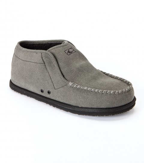 Surf O'Neill high top/surf boot; cotton canvas and chambray upper; padded tricot sock lining footbed with arch cookie; sherpa lining side walls; embroidered logos; eva outsole. - $27.99