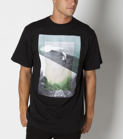 Surf The O'Neill Mystic tee is made of 100% organic ringspun cotton; basic fit tee and attached organic sticker. - $22.00