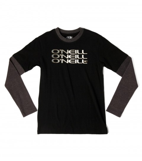 Surf O'Neill Boys Cache 2Fer Tee.  100% Cotton.  Layered look; tee with cotton sleeves. - $29.50