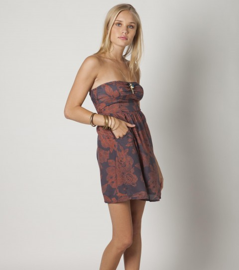 Entertainment The O'Neill Ever dress is made of 100% viscose woven with side zip entry with logo embroidery. - $32.99