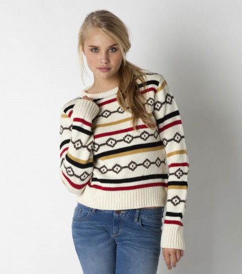 Surf The O'Neill Sweet sweater is made of 100% acrylic yarn dye sweater knit; croped styling; solid back; sweater rib knit trim; metal logo badge. - $59.50