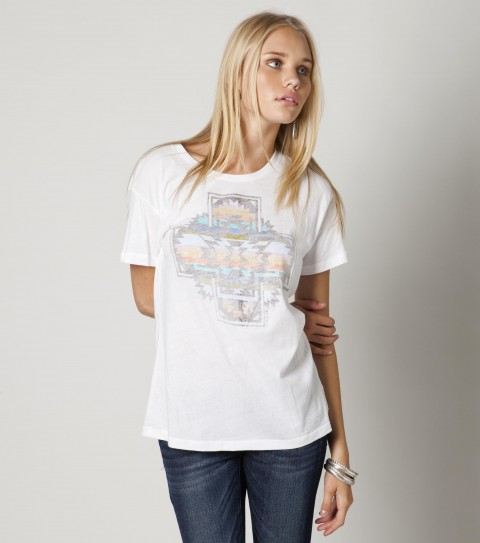 Surf The O'Neill Flagstaff tee is made of 100% cotton jersey; favorite crew with reverse printed screen. - $12.99