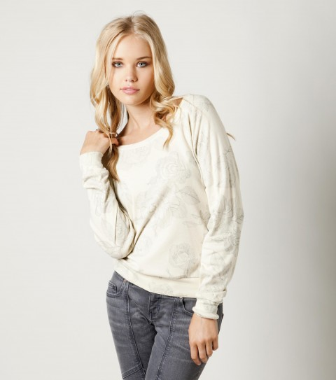 Surf The O'Neill Another Day sweater is made of 60% cotton and 40% polyester jersey; laguna crew. - $34.00