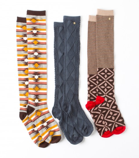 Surf O'Neill Sock Hop Socks.  3 Piece pack of cool patterned socks! - $16.99
