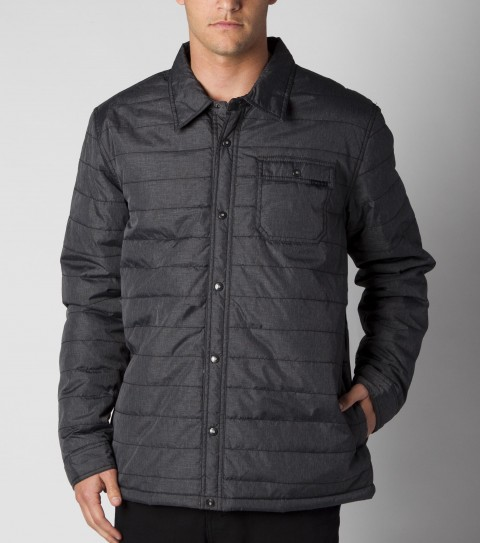 Surf 62% nylon / 38% polyester snap-front lightweight O'Neill puffer jacket. Standard fit; on-seam hand pockets; chest pocket; contrast interior lining; logo embroidery and labels. - $63.99