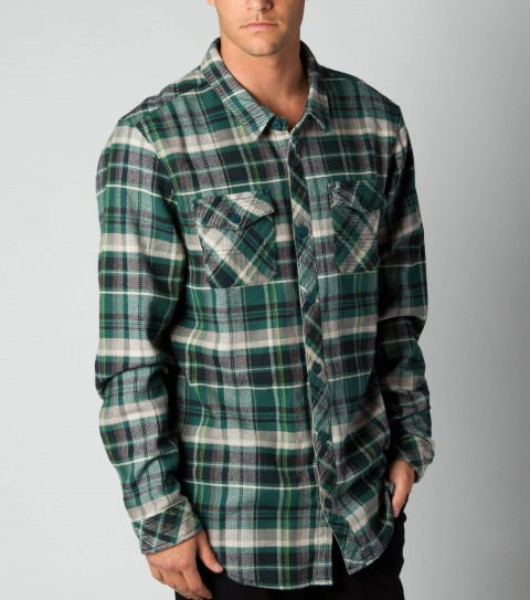 Surf O'Neill 100% cotton heavyweight plaidlong sleeve flannel with silicone wash. Standard fit; chest pockets; with O'Neill logo embroideries and labels. - $44.99