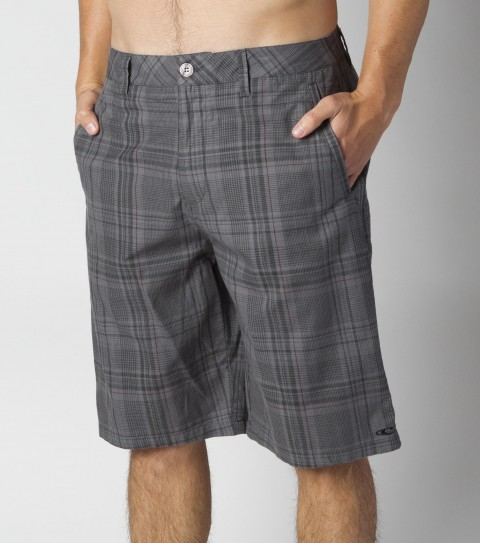 Surf O'Neill Stryker Shorts.  100% Cotton.  Plaid walkshort with heavy enzyme and silicone softener wash. Standard fit; contrast interior fabrics; logo embroidery and labels. - $43.99