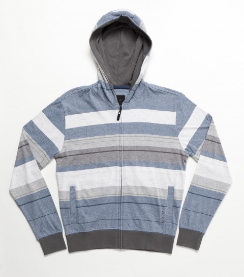 Surf O'Neill Boys Haven Hoodie Shirt.  100% Cotton.  Jersey engineered yarn dye heather stripe hooded zip-up.  Standard fit; side hand pockets; logo embroidery and labels. - $46.00