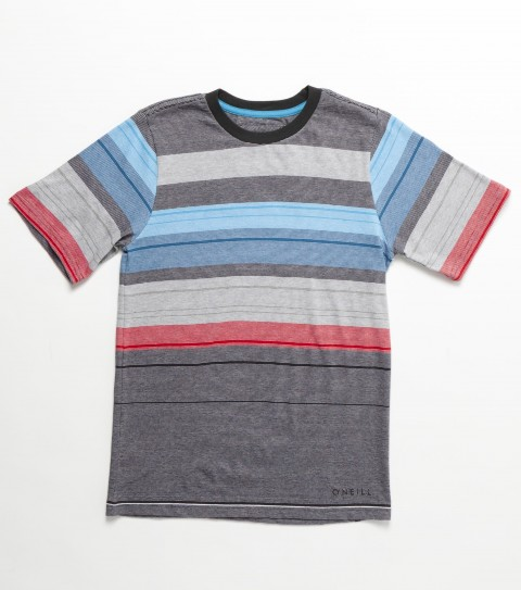 Surf O'Neill Boys Mason Crew Shirt.  100% Cotton.  Jersey stripe crew.  Standard fit; logo embroidery and labels. - $29.50