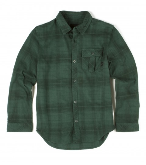 Surf O'Neill Boys Chimera Flannel. 100% Cotton. Plaid flannel with silicone wash. Standard fit; chest pocket; with logo embroideries and John John labeling. - $40.99