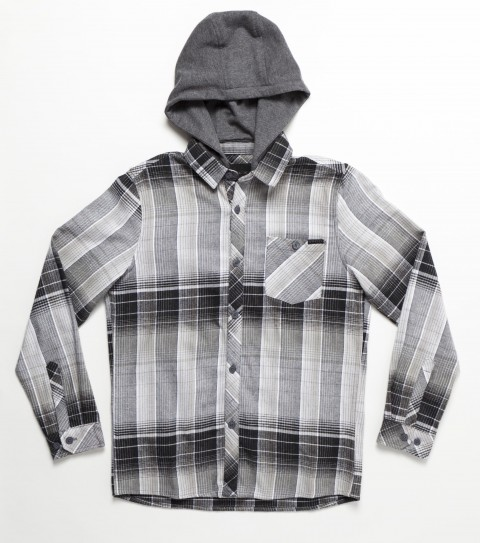 Surf O'Neill Boys Revive Flannel. 100% Cotton. Plaid flannel with enzyme wash. Standard fit; chest pocket; with logo embroideries and labels. - $26.99
