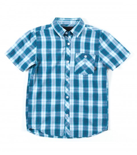 Surf O'Neill Boys Ellison Shirt. 100% Cotton. Plaid shirt with enzyme wash. Standard fit; chest pocket; with logo embroideries and labels. - $33.99