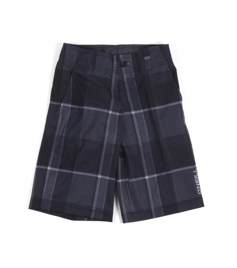 Surf O'Neill Boys Wall Street Stretch Shorts.  Epicstretch.  Allover print with comfort fly closure; internal drawcord; belt loops; onseam hand pockets; back zipper pocket; woven and embroidered logos. - $44.50