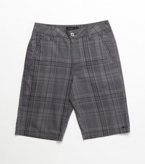 Surf O'Neill Boys Stryker Shorts. 100% Cotton. Plaid walkshort with heavy enzyme and silicone softener wash. Standard fit; contrast interior fabrics; logo embroidery and labels. - $40.99