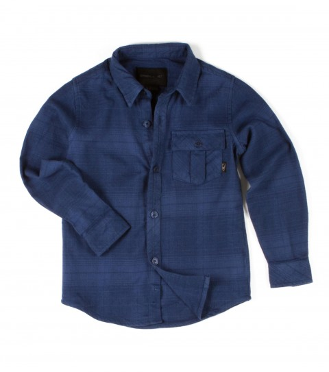 Surf O'Neill Kids Chimera Flannel. 100% Cotton. Plaid flannel with silicone wash. Standard fit; chest pocket; with logo embroideries and John John labeling. - $42.00