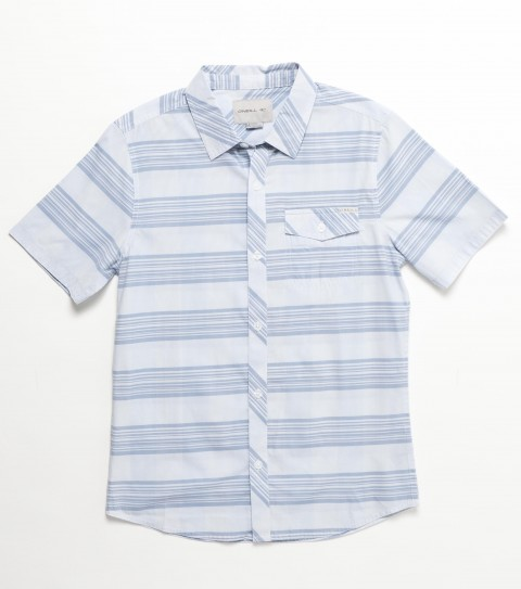 Surf O'Neill Kids Brewster Shirt. 55% Polyester / 45% Viscose. Plaid with silicone wash. Modern fit; logo embroidies and labels. - $38.00