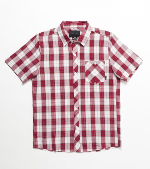 Surf O'Neill Kids Ellison Shirt. 100% Cotton. Plaid shirt with enzyme wash. Standard fit; chest pocket; with logo embroideries and labels - $29.99