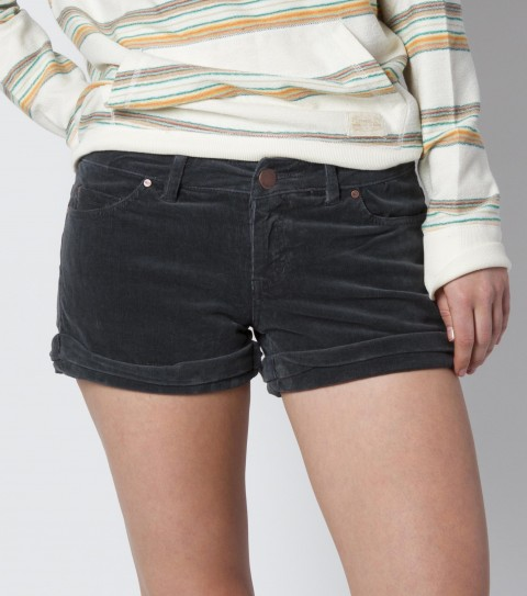 "Surf O'Neill Pine Valley Corduroy Shorts.  98% Cotton / 2% Elastane.  16 wale corduroy; 2.5"" inseam; roll cuff leg opening; antique metal hardware; 5 pocket styling; metal logo badge. - $32.99"