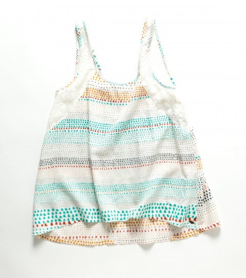 Surf O'Neill Girls Chelsea Top.  100% Viscose printed.  100% Cotton crochet.  Crochet inset shoulder straps; smocked back panel; and metal logo badge. - $36.00