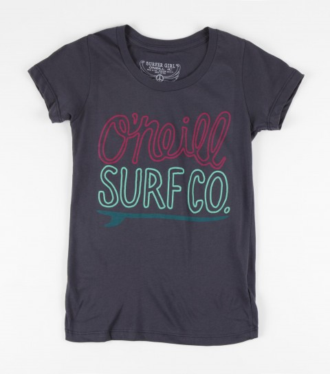 Surf O'Neill Girls Dharma Tee.  100% Cotton.  Screenprint. - $15.99