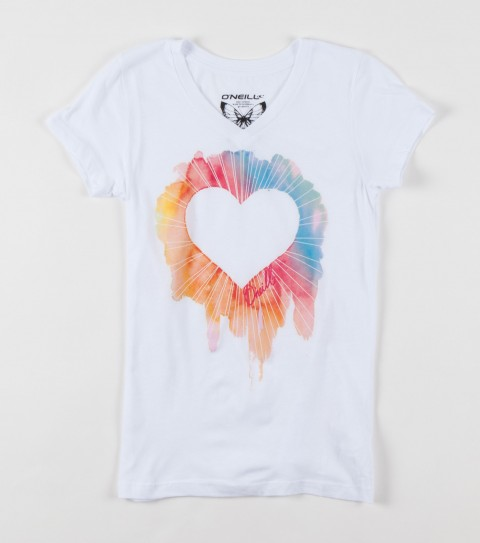 Surf O'Neill Girls Josie Tee.  65% Polyester / 35% Rayon.  Girls slider tee. - $12.99