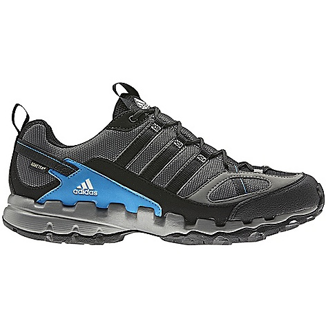 Camp and Hike On Sale. Free Shipping. Adidas Men's AX 1 GTX Shoe DECENT FEATURES of the Adidas Men's AX 1 GTX Shoe Lining: Gore-Tex Extended Comfort Footwear: Waterproof and breathable. Ideal for higher activity levels Sockliner: Molded sockliner to enhance comfort and fit Midsole: Lightweight EVA midsole for long term cushioning Outsole: Super High Traction Rubber for optimal grip in wet conditions The SPECS Weight: 13 oz / 379 g - $82.99