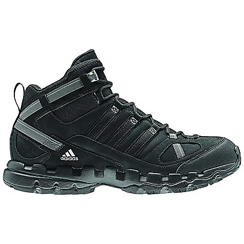 Camp and Hike Free Shipping. Adidas Men's AX 1 Mid Lea Boot DECENT FEATURES of the Adidas Men's AX 1 Mid Lea Boot Upper: Nubuck leather for comfort and soft feel Upper: Protective toe and heel cap Inlay: Molded EVA sockliner Sustainable Content: 10% recycled rubber, sustainably sourced leather The SPECS Weight: 14 oz / 419 gram - $109.95