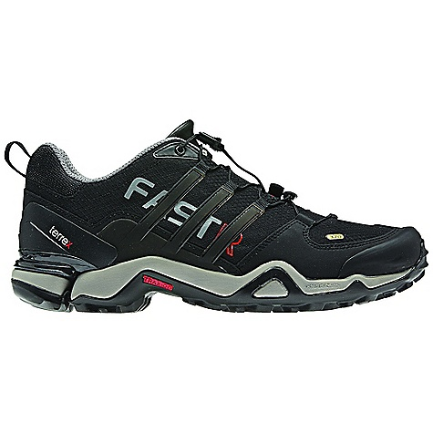 Entertainment Free Shipping. Adidas Men's Terrex Fast R Shoe DECENT FEATURES of the Adidas Men's Terrex Fast R Shoe Midsole: Full forefoot adiPRENE+ for forefoot propulsion and efficiency Inlay: Molded Ortholite sockliner for best foot climate and comfort Midsole: Outdoor specific Formotion unit for enhanced motion control and downhill comfort Outsole: Traxion-featuring Continental Rubber for extraordinary grip The SPECS Weight: 12.5 oz / 355 g - $159.95